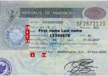 Visa Indonesia đi du lịch